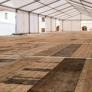 Clear Span Marquee Dorset Hampshire Surrey West Sussex With Wooden Flooring